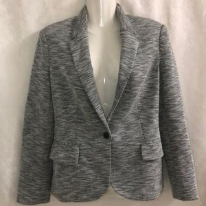 Anthro Cartonnier blazer gray/white sz M